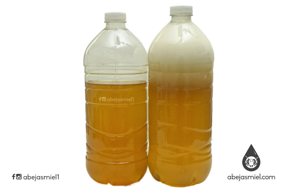 Miel refrigerada vs miel fermentada